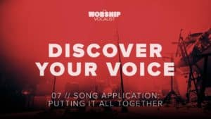 voice lessons video about being a great worship singer