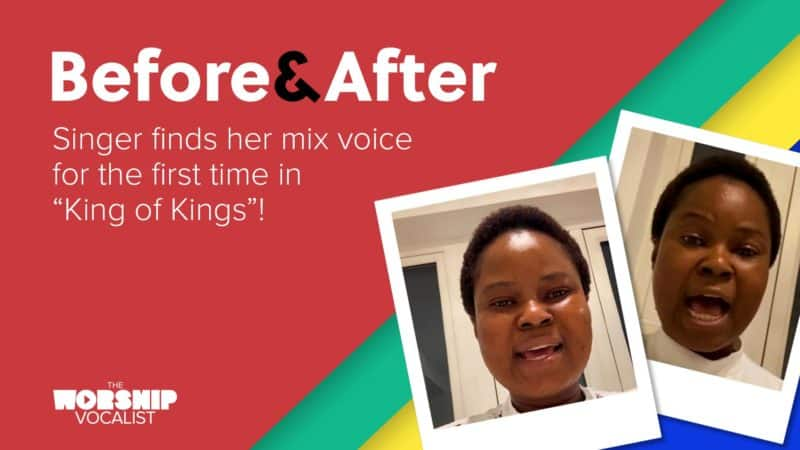 BEFORE & AFTER // Singer finds her mix voice for the first time