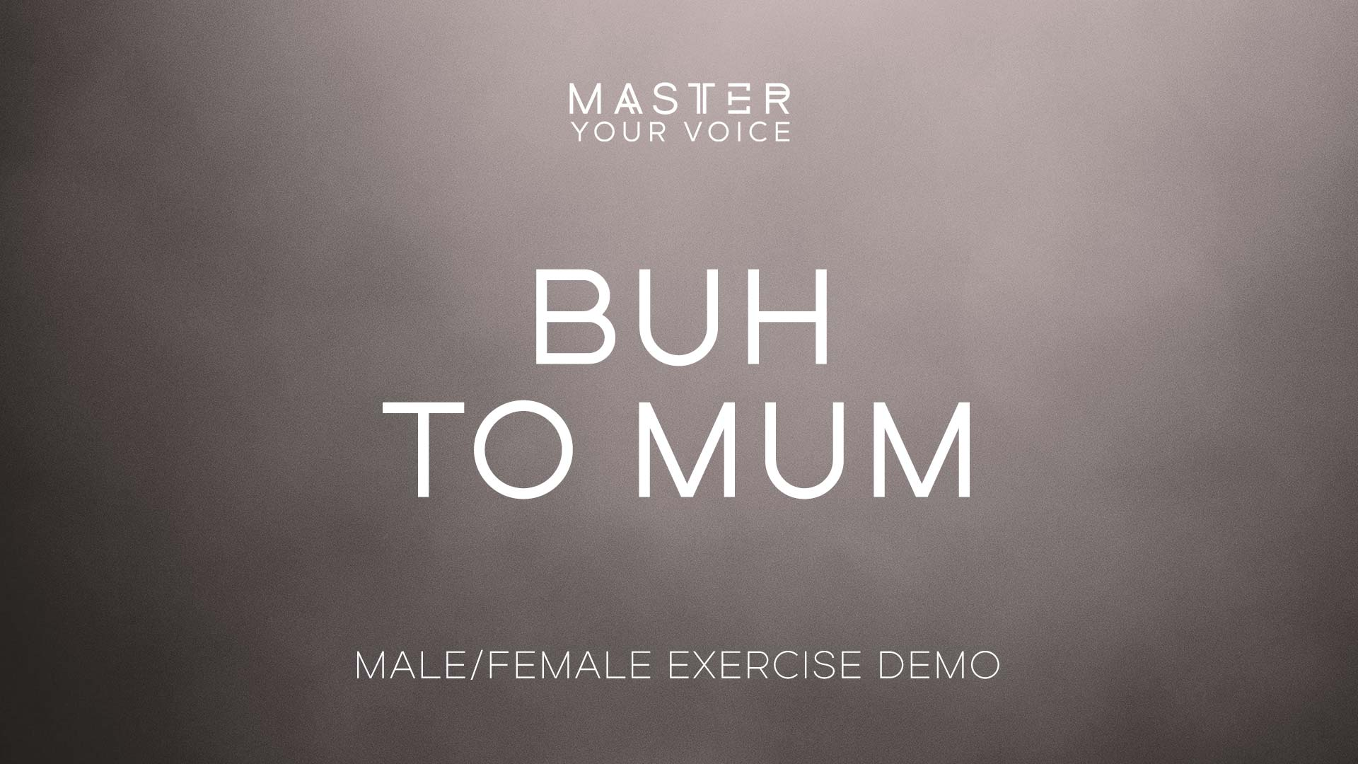 Buh to Mum Exercise Demo