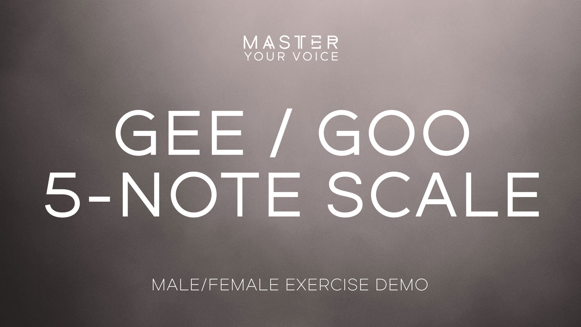 Gee / Goo 5-Note Scale Exercise Demo