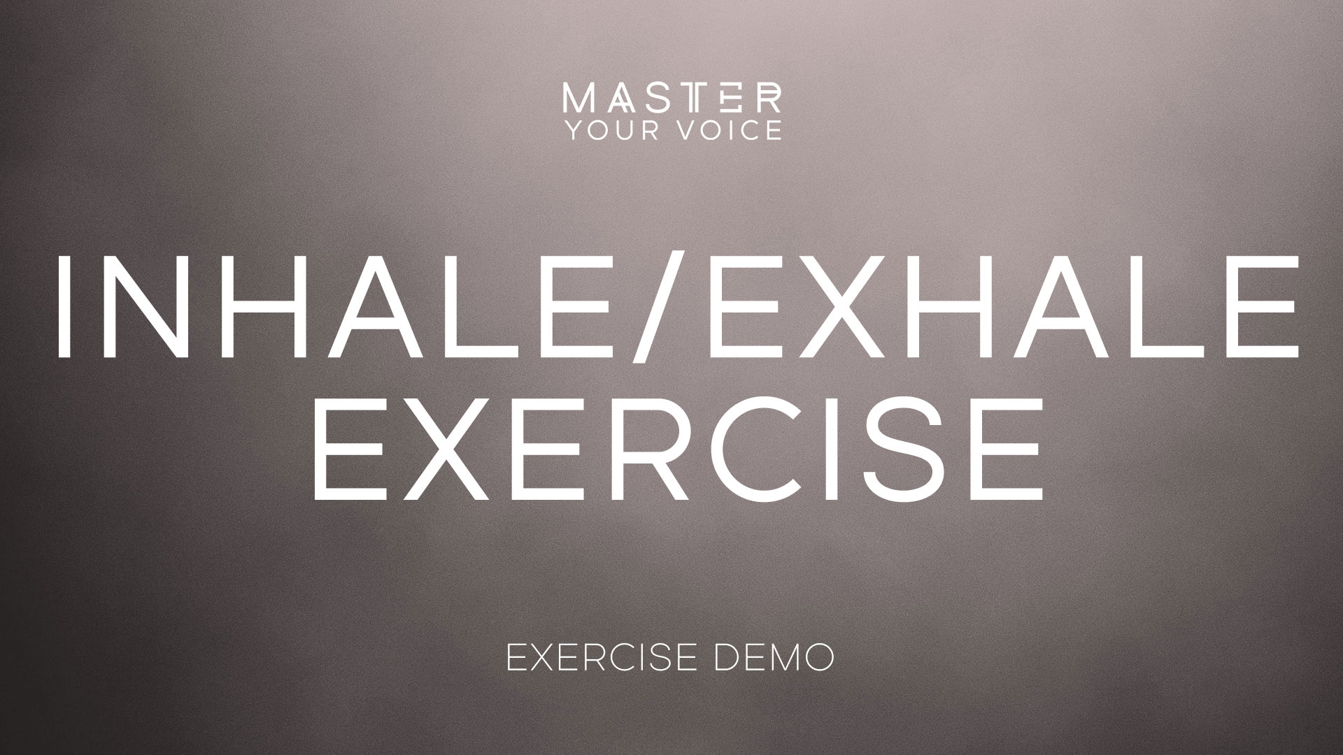 Inhale/Exhale Exercise Demo