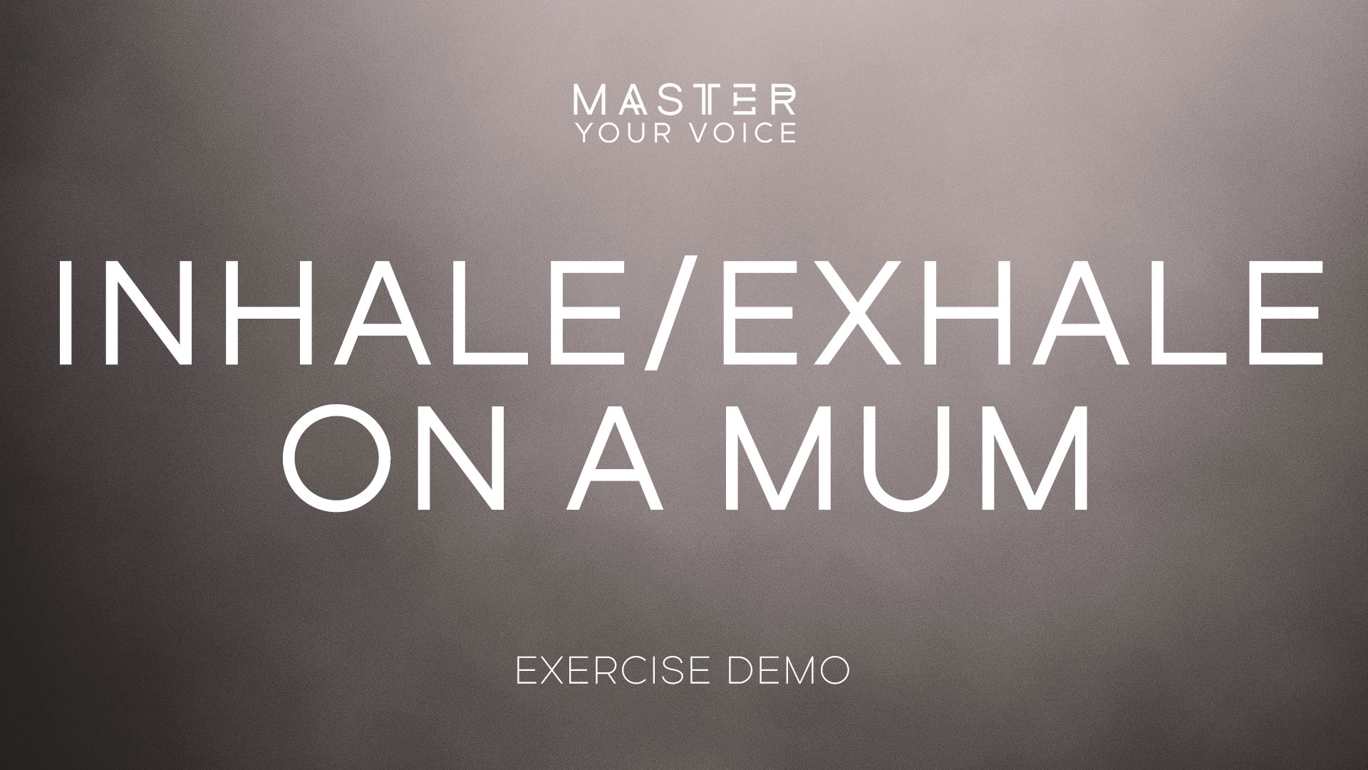 Inhale/Exhale on a Mum Exercise Demo