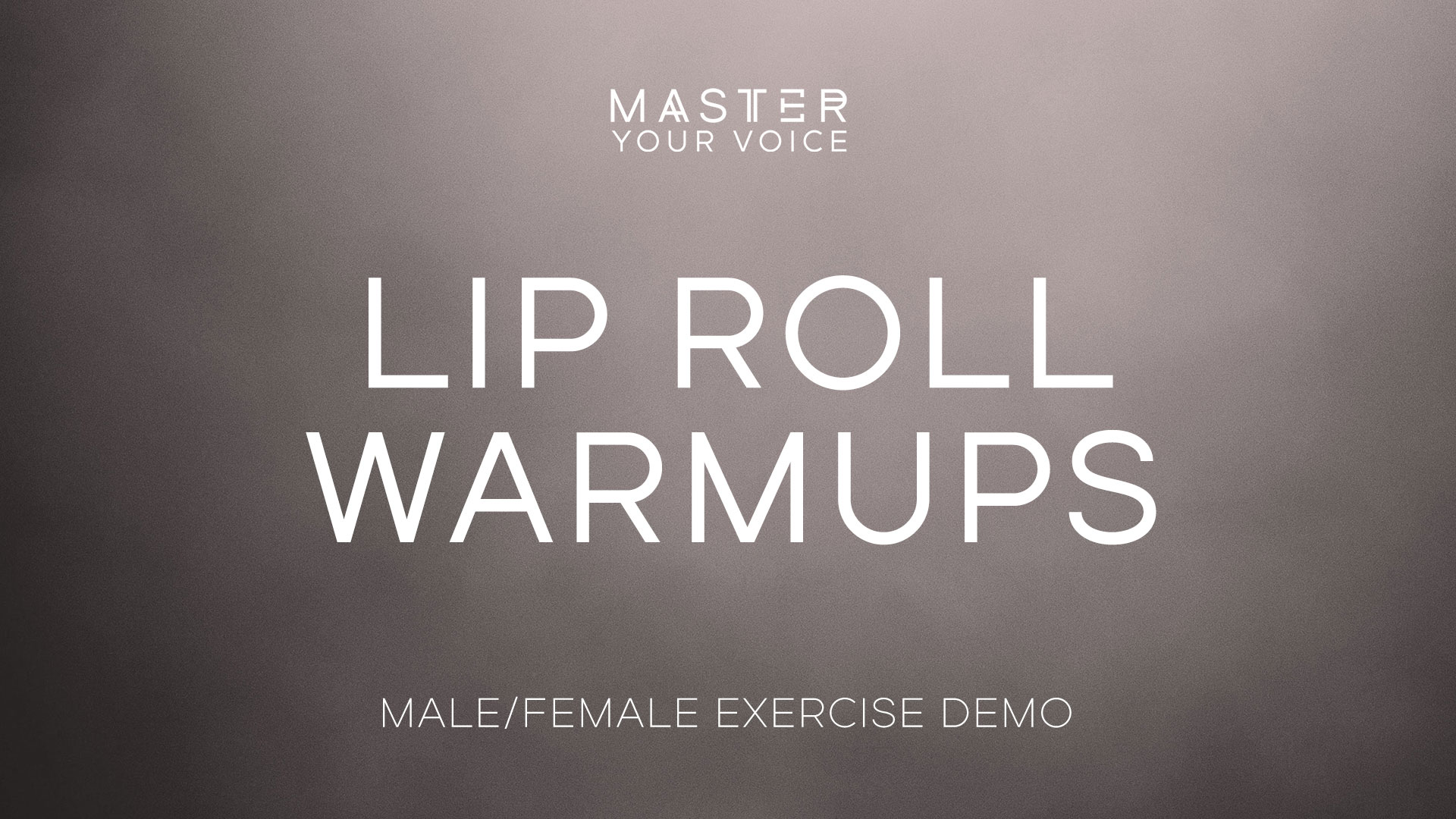 Lip Roll Warmups Exercise Demo