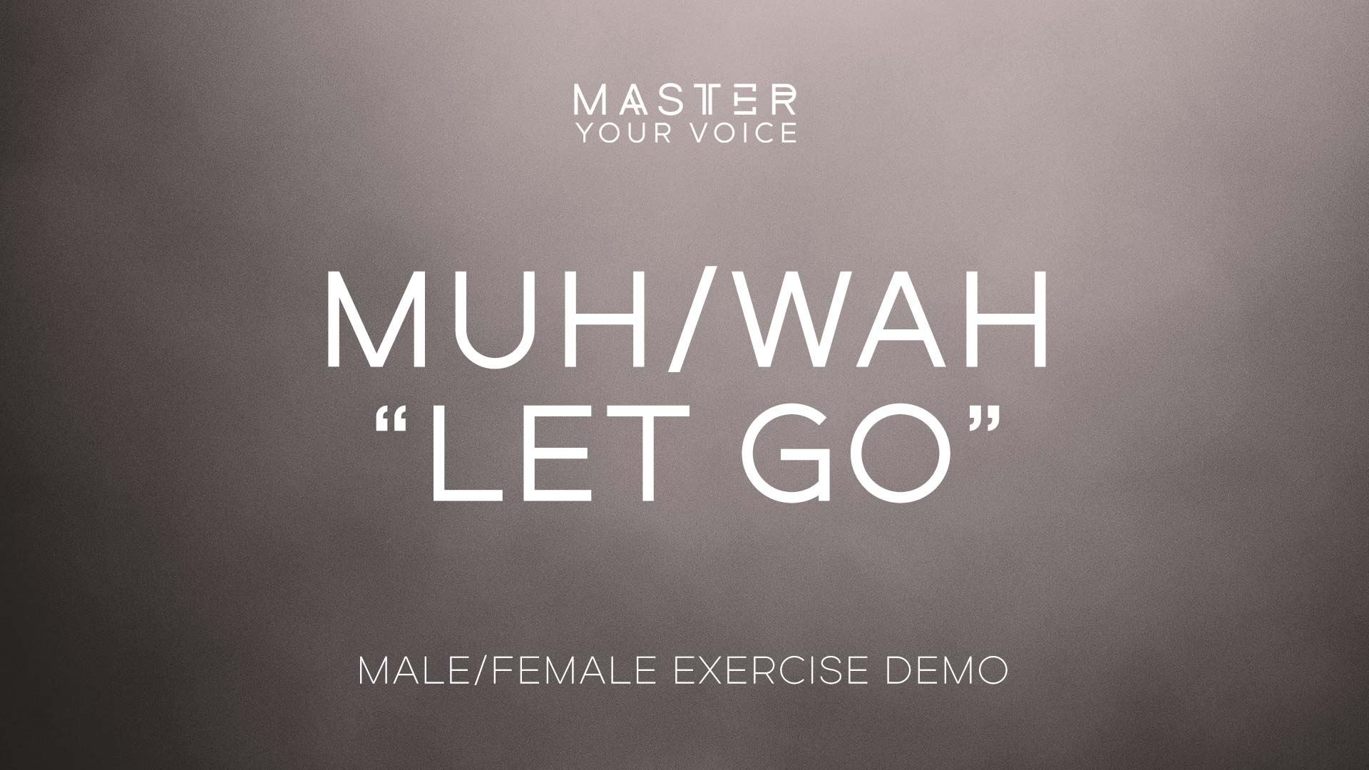 "Muh/Wah ""Let Go"" Exercise Demo"
