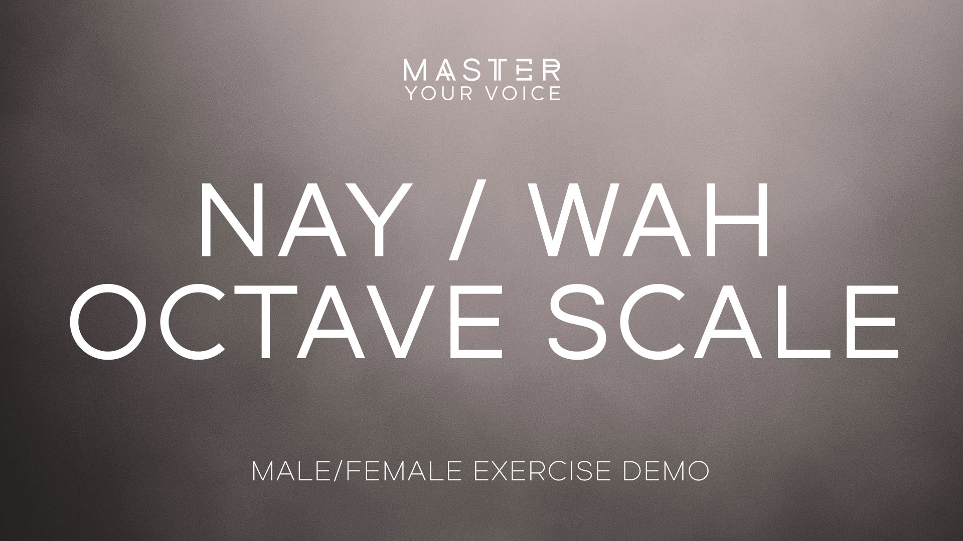 Nay / Wah Octave Scale Exercise Demo