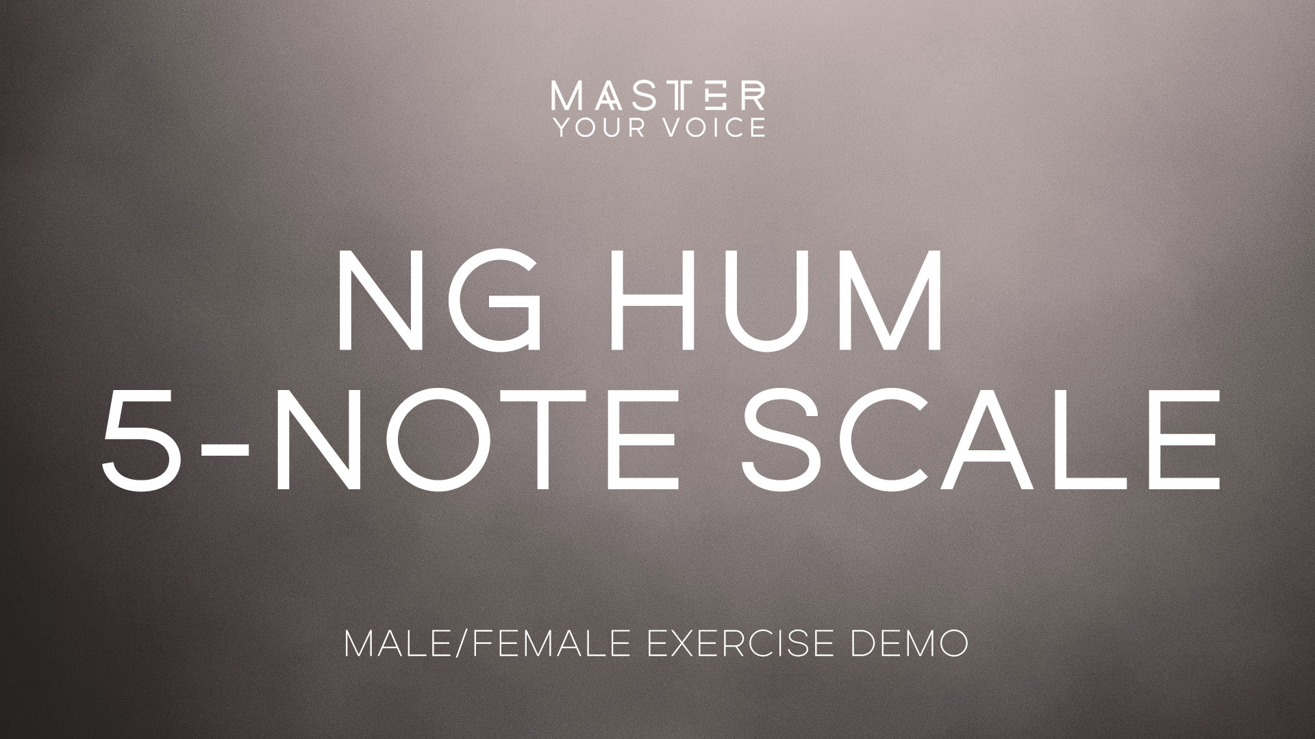 Ng Hum 5-Note Scale Exercise Demo