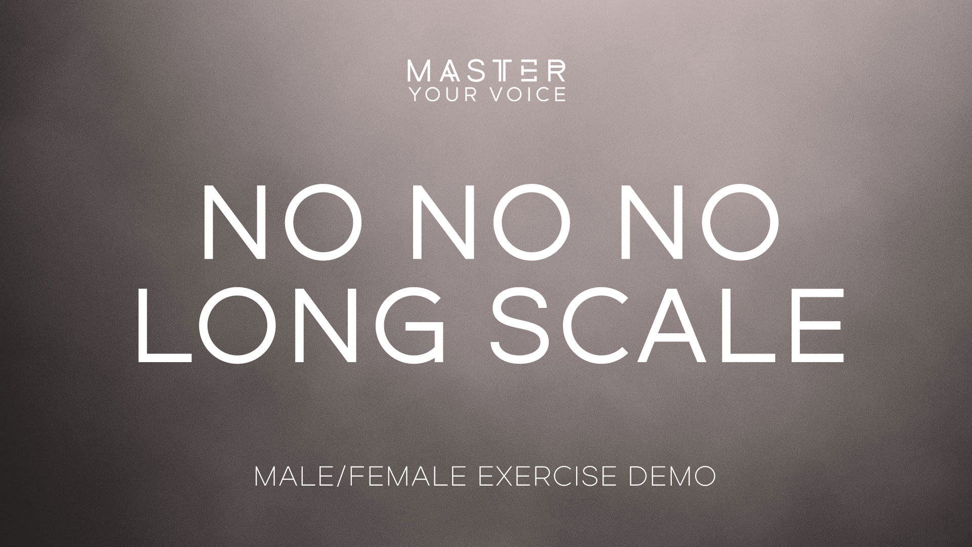 No No No Long Scale Exercise Demo