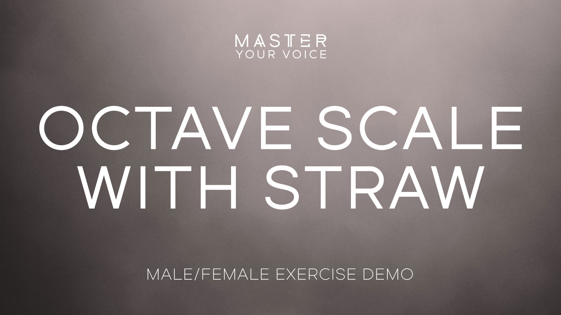 Octave Scale with Straw Exercise Demo