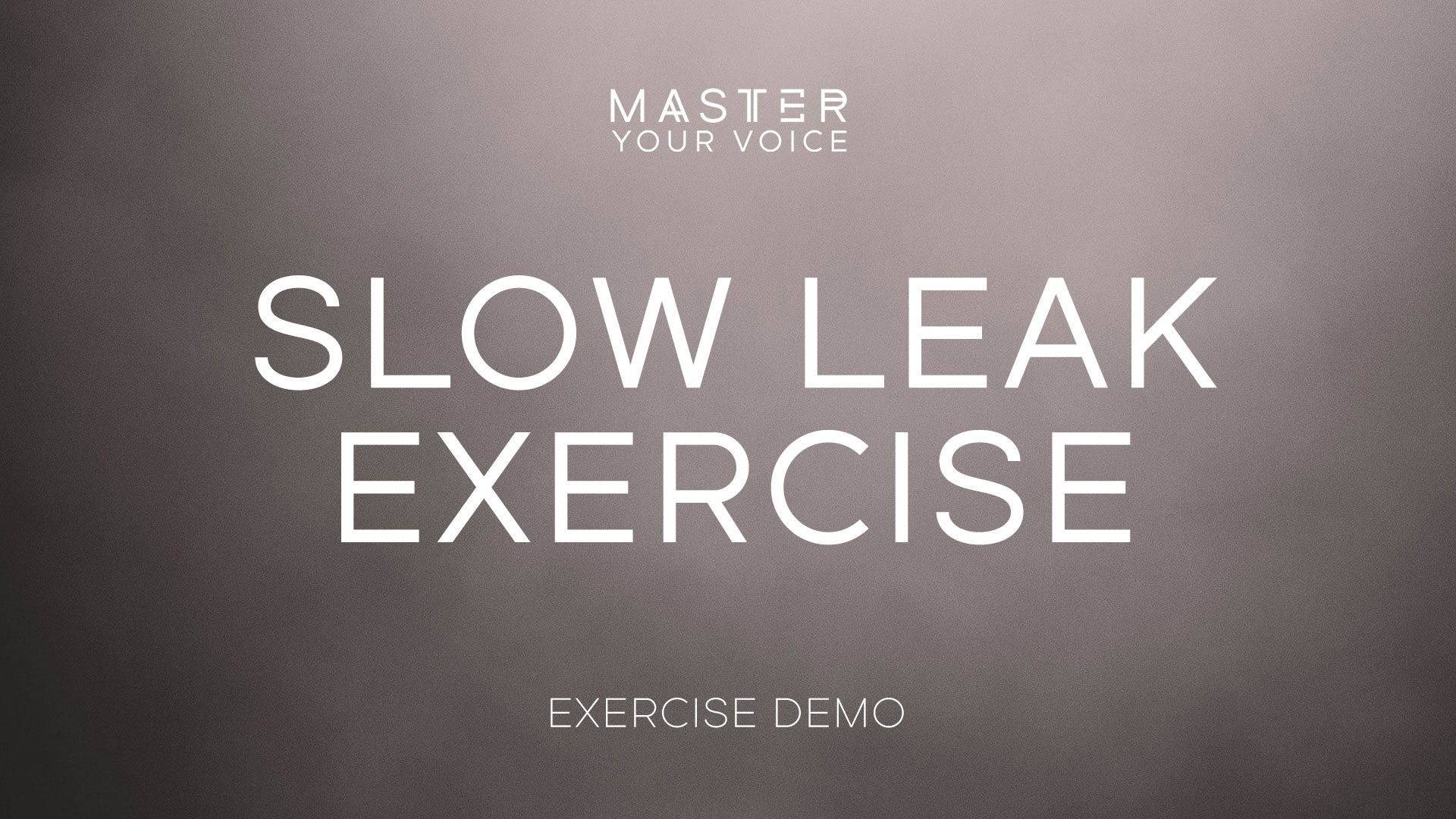 Slow Leak Exercise Demo