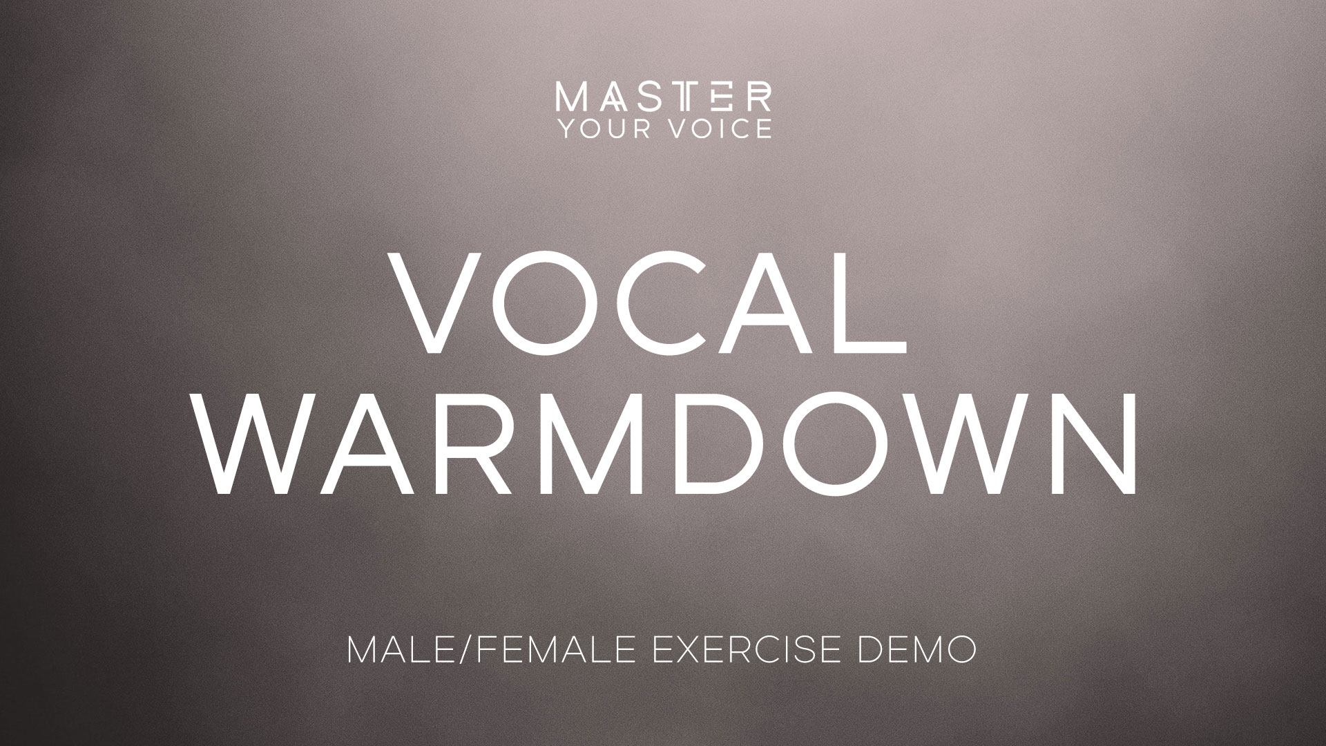 Vocal Warmdown Exercise Demo