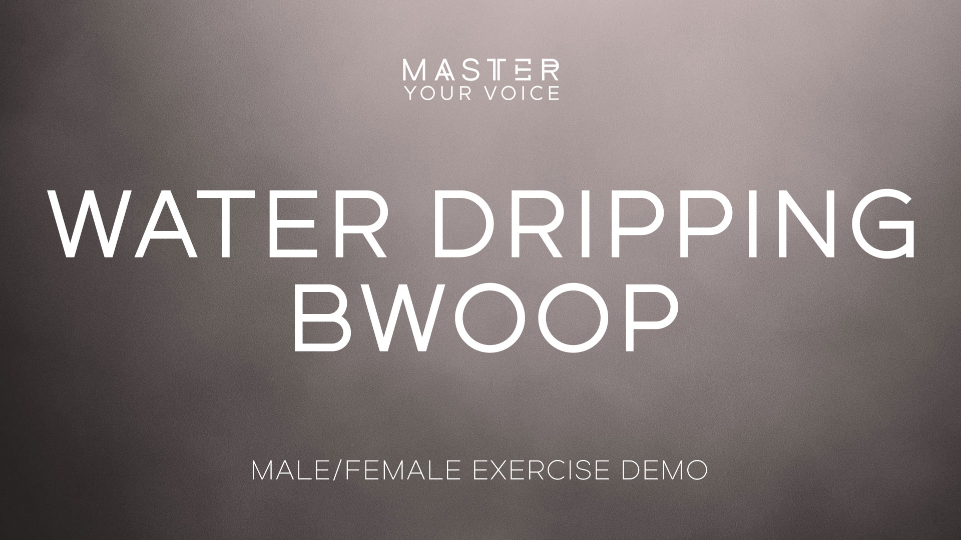 Water Dripping Bwoop Exercise Demo