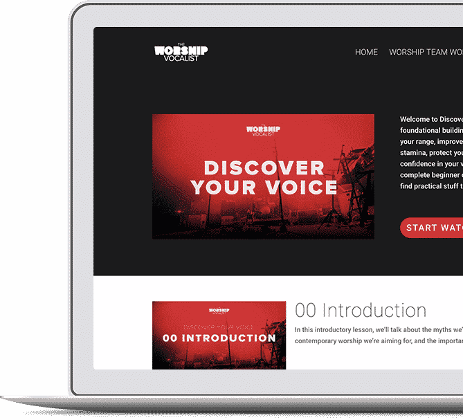 Voice lessons and worship training on The Worship Vocalist