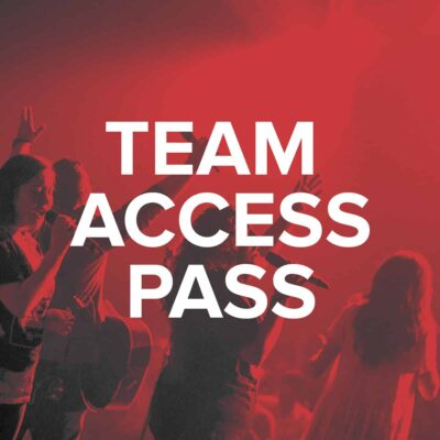 Worship Vocalist Access Pass - Team
