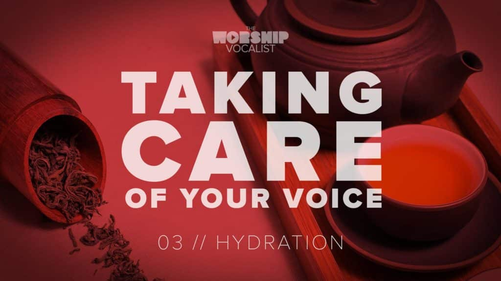 vocal health video about how important water is for singers