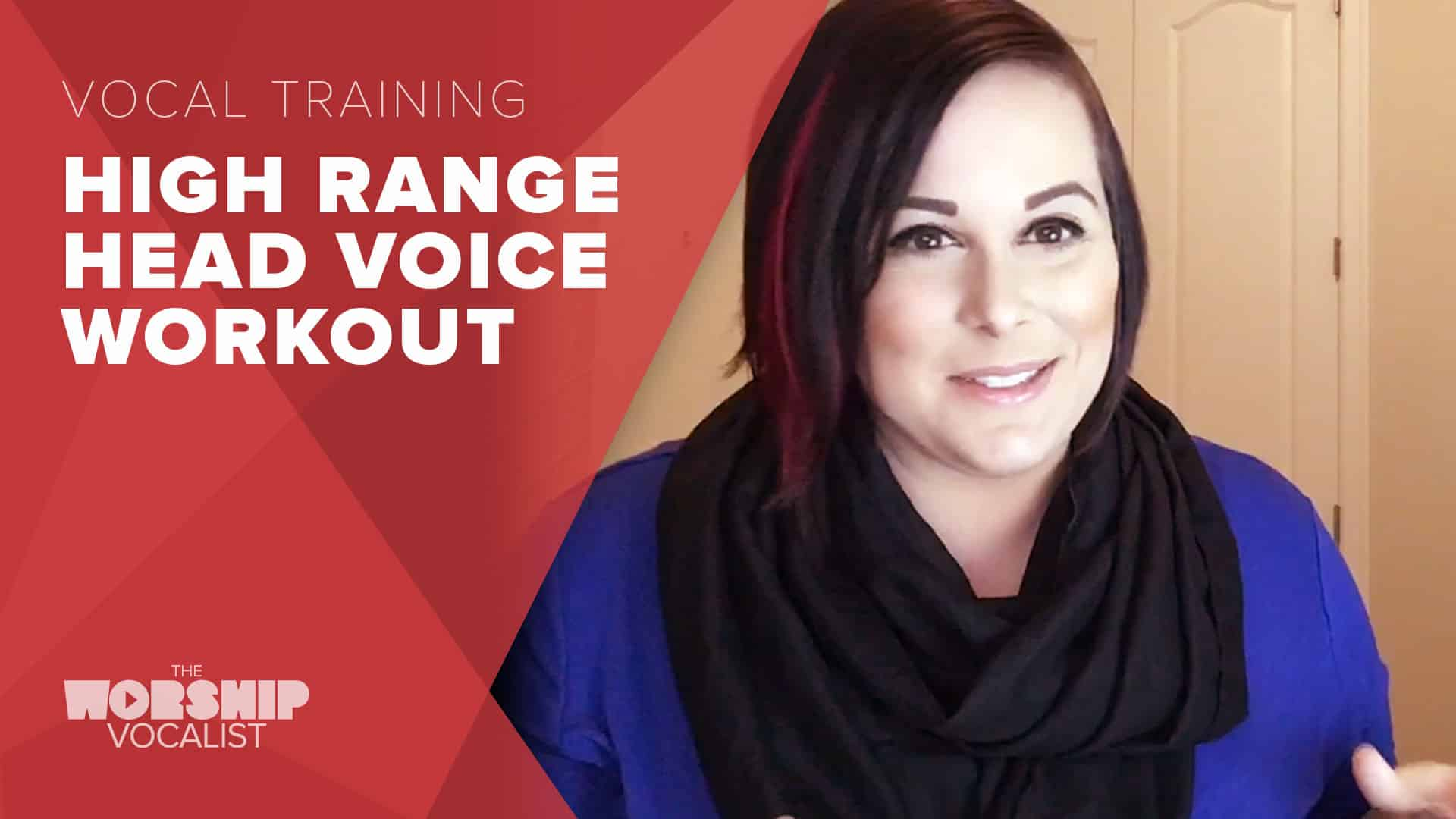 video workout for exercising high vocal range and head voice